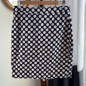 J Crew Polka Dot Pencil Skirt